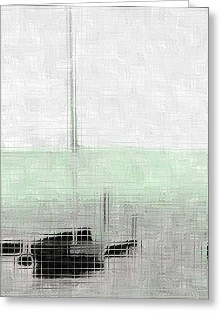 Sailing Boat At A Dock Greeting Card