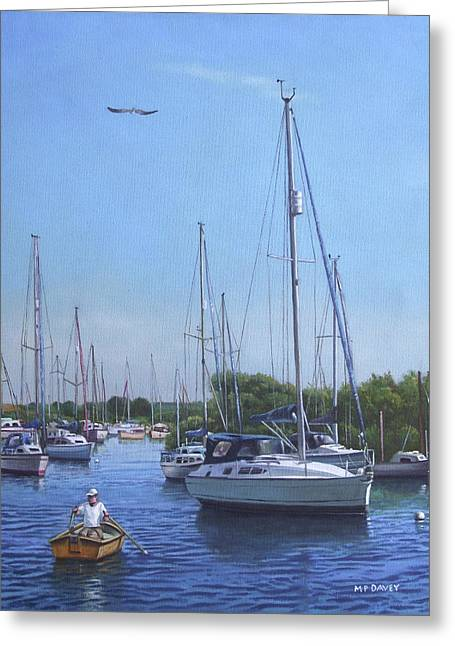 Sailing Boats At Christchurch Harbour Greeting Card
