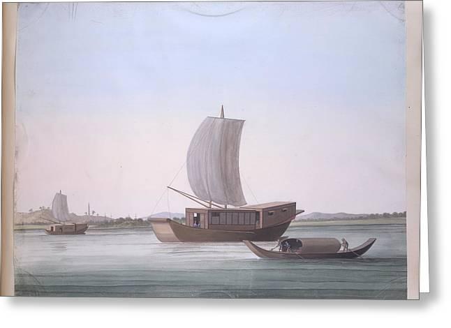 Sailing Boats Greeting Card by British Library