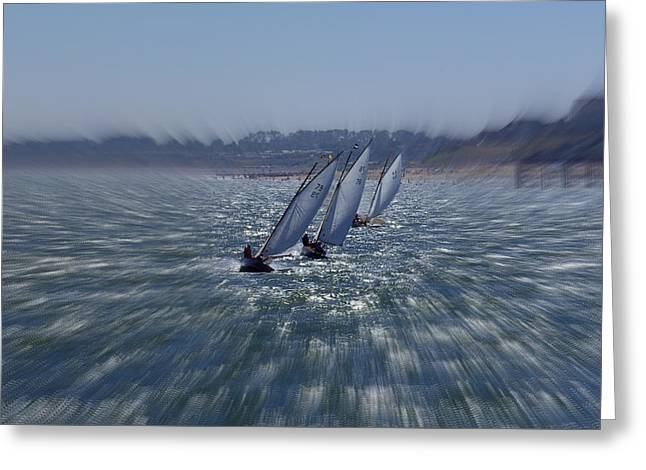 Sailing Boats Racing Greeting Card