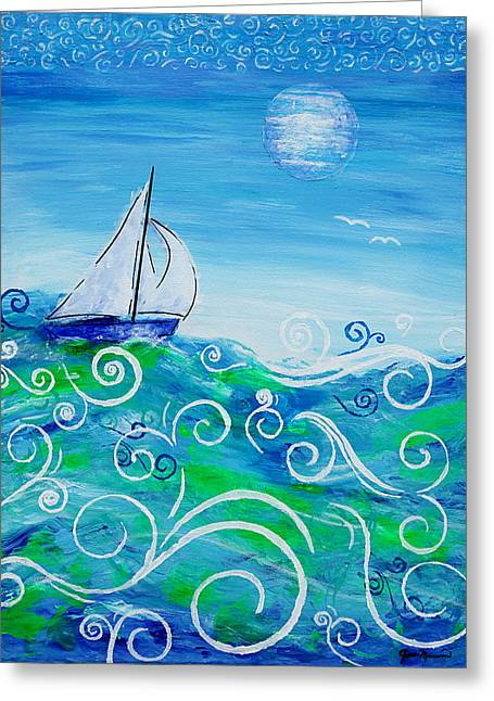 Sailing By Jan Marvin Greeting Card