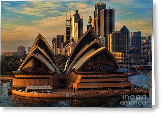 sailing by the Opera House Greeting Card