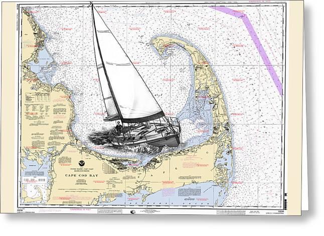 Sailing Cape Cod Bay Greeting Card by Jack Pumphrey
