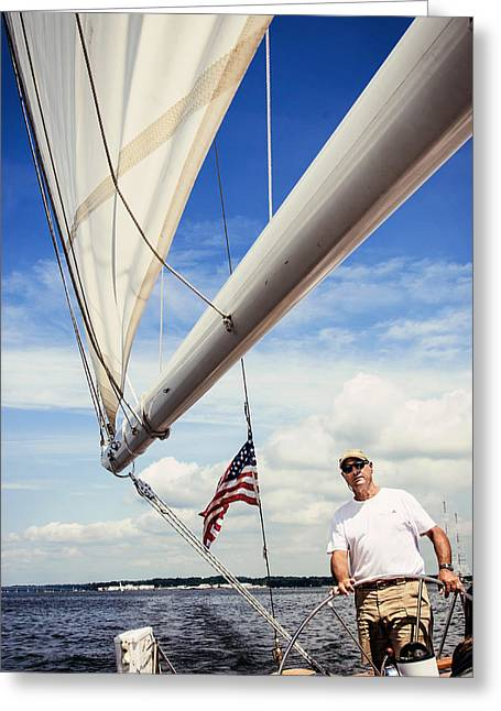 Sailing Captain Pride Greeting Card