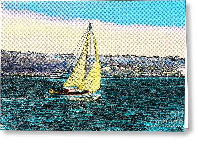 Sailing Greeting Card by Cheryl Young