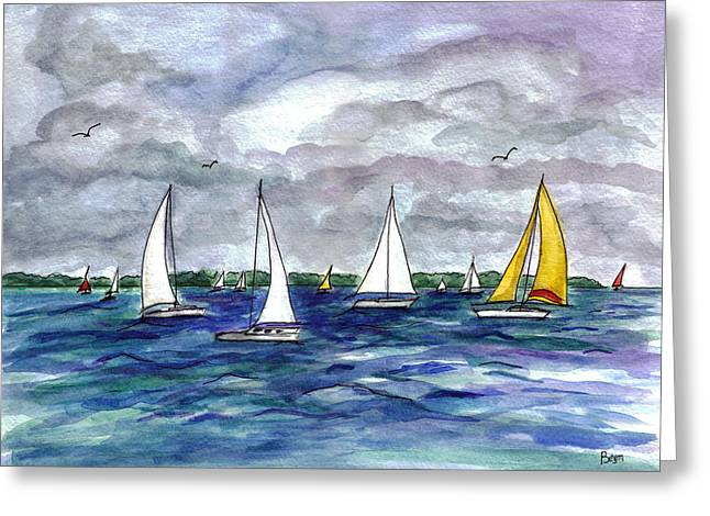 Sailing Day Greeting Card