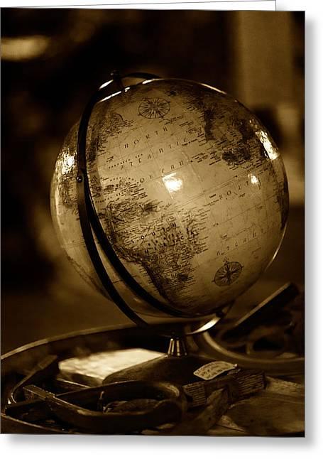 Sailing Globe Greeting Card