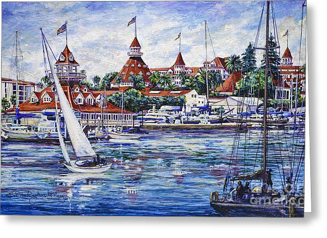 Sailing Glorietta Bay Greeting Card