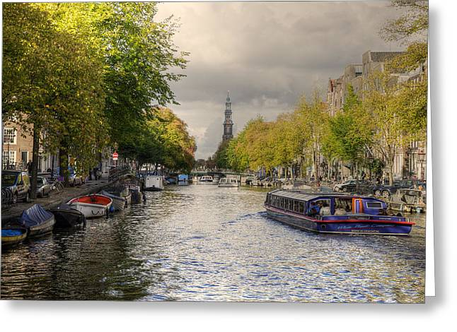Sailing In Amsterdam Greeting Card