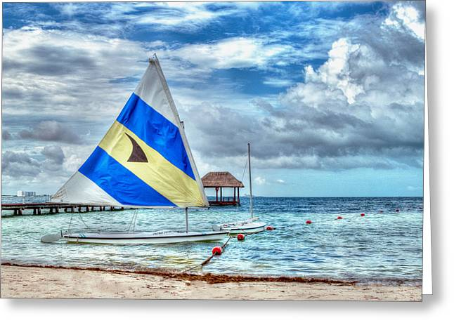 Sailing In Cancun Greeting Card