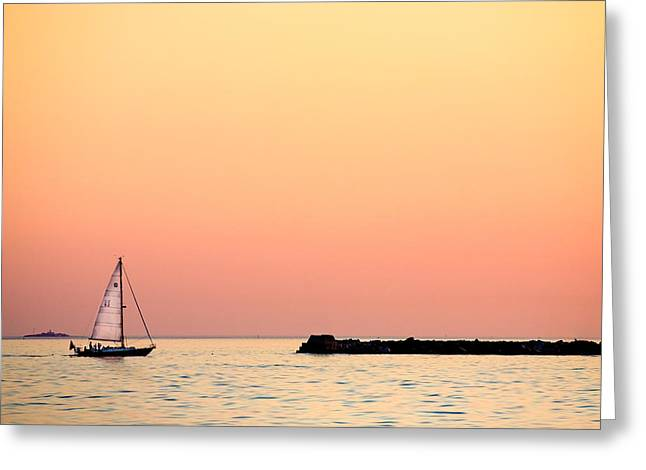 Sailing In Color Greeting Card by Gary Heller