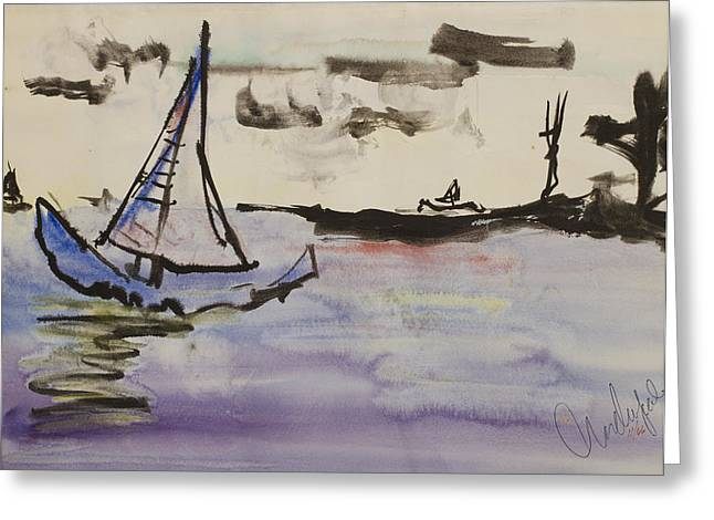 Sailing In Door County 2 Greeting Card