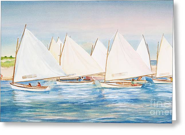 Sailing In The Summertime II Greeting Card