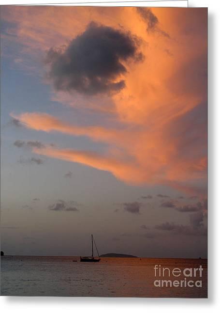Sundown Over Trunk Bay Greeting Card