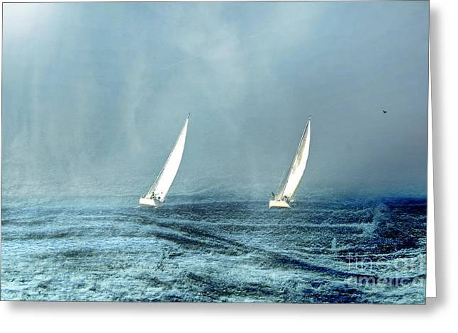 Sailing Into The Unknown Greeting Card