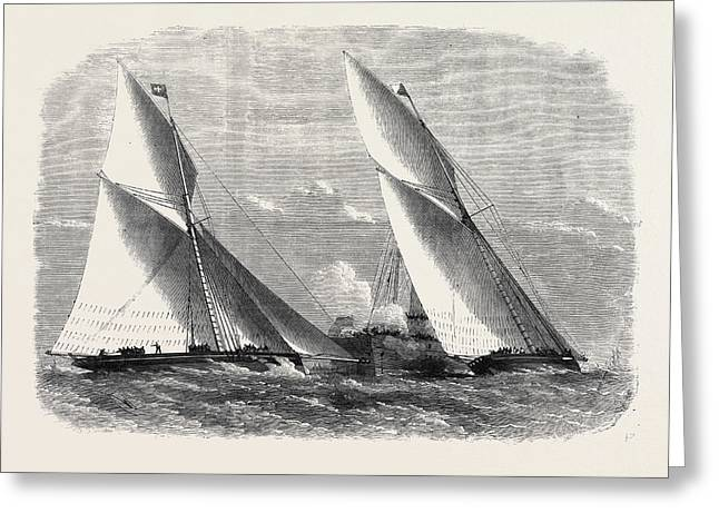 Sailing Match Of The Royal Thames Yacht Club 1868 Greeting Card