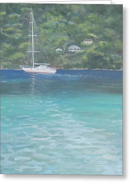 Sailing On The Caribbean Greeting Card