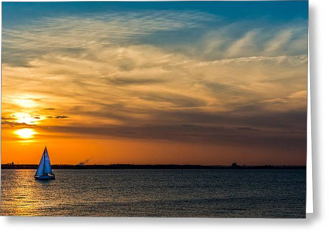 Sailing On The Chesapeake Greeting Card