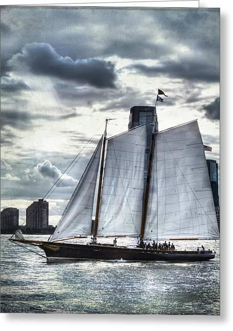 Sailing On The Hudson Greeting Card