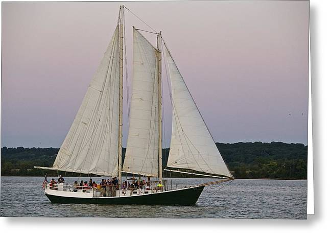 Sailing On The Potomac Greeting Card