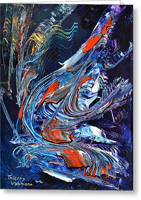 Sailing Over The Wild Ocean Greeting Card by Thierry Vobmann