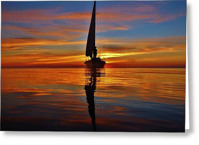 Sailing Perfection 19 7/5 Greeting Card by Mark Lemmon