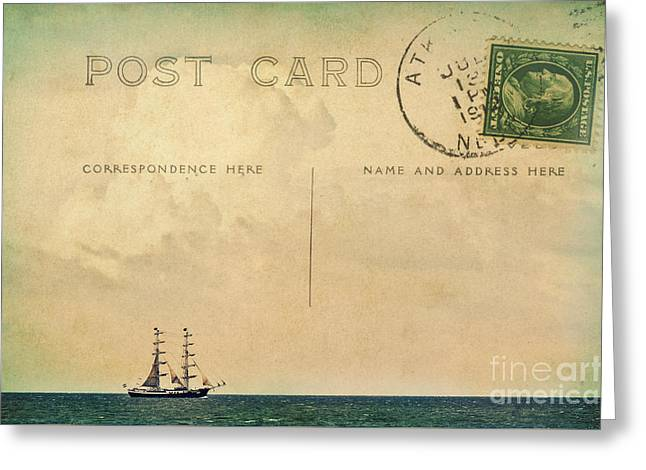 Sailing Postcard Greeting Card by Angela Doelling AD DESIGN Photo and PhotoArt