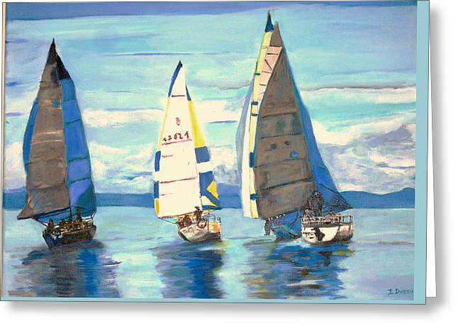 Sailing Regatta At Port Hardy Greeting Card