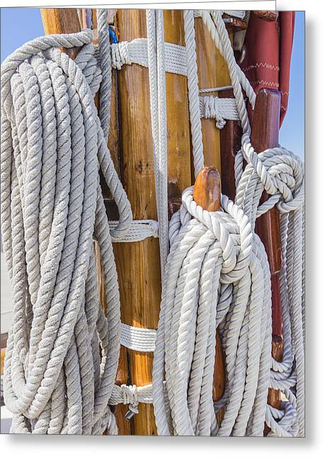 Greeting Card featuring the photograph Sailing Rope 4 by Leigh Anne Meeks