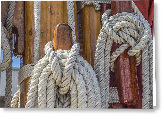 Greeting Card featuring the photograph Sailing Rope 5 by Leigh Anne Meeks