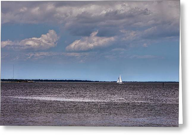 Greeting Card featuring the photograph Sailing by Sennie Pierson