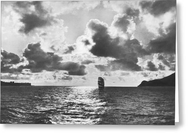 Sailing Ship Enters Sf Bay Greeting Card
