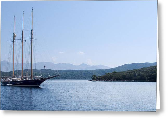Sailing Ship In The Adriatic Islands Greeting Card