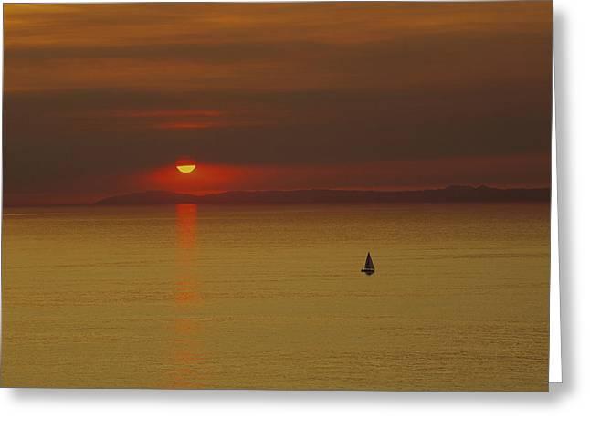 Sailing Ship Sea Greeting Card