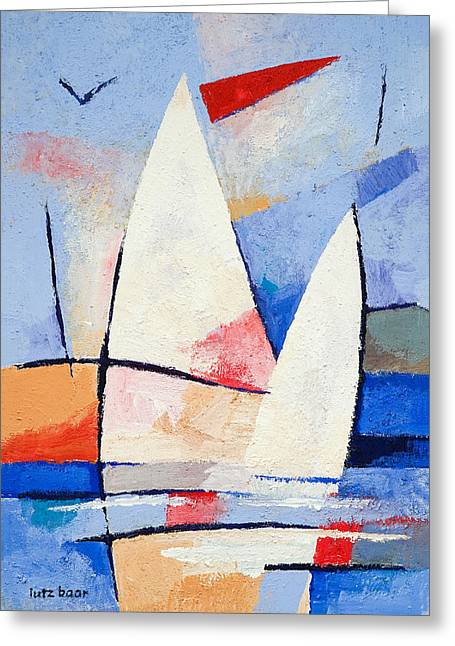 Sailing Signs Greeting Card by Lutz Baar