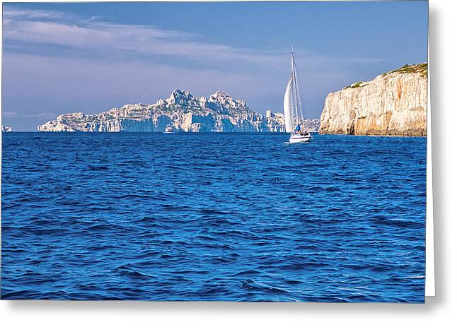 Sailing South Of France Greeting Card