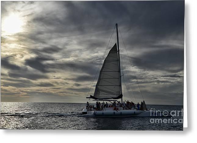 Sailing The Caribbean Greeting Card