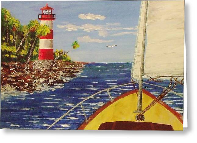Sailing The Coast Greeting Card