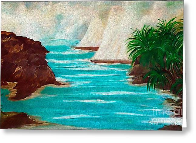Sailing The Coast Of California Greeting Card by Sherri  Of Palm Springs