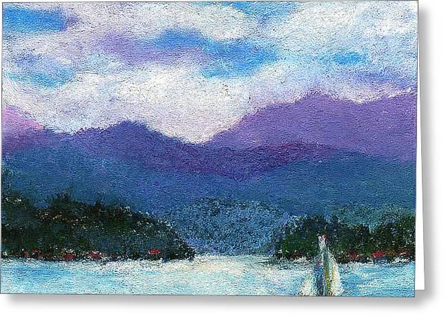 Sailing The Lake Greeting Card by David Patterson
