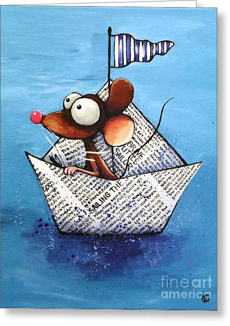 Sailing The Seven Seas Greeting Card