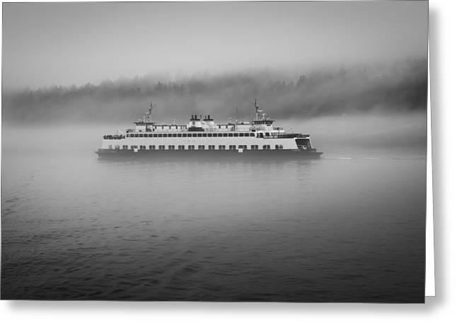 Sailing Through The Fog Greeting Card