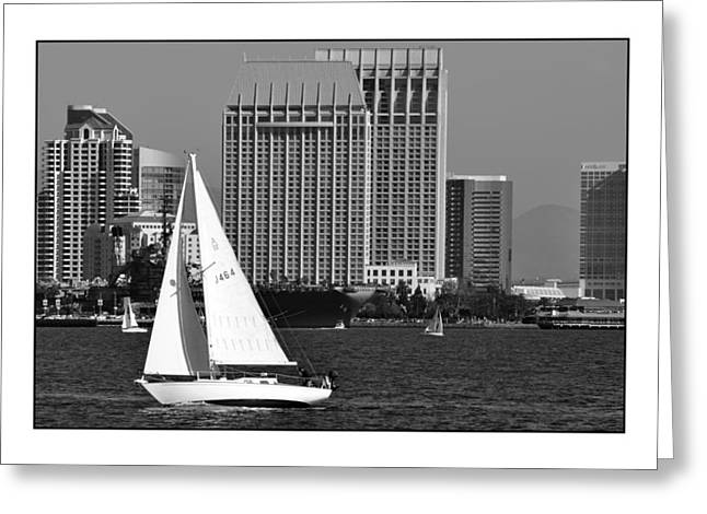Greeting Card featuring the digital art Sailing To Work by Kirt Tisdale