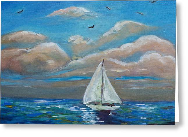 Sailing With My Dad Greeting Card