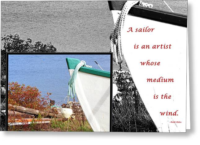 Sailor - Wind - Water - Boats Greeting Card by Barbara Griffin