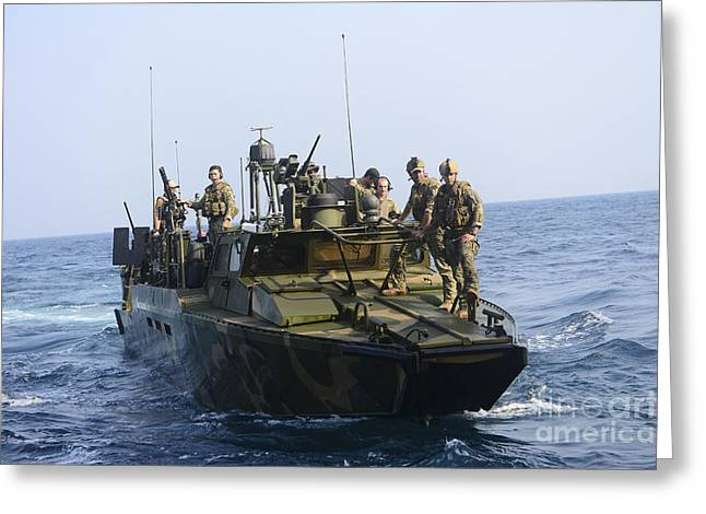 Sailors Conduct Patrol Operations Greeting Card by Stocktrek Images