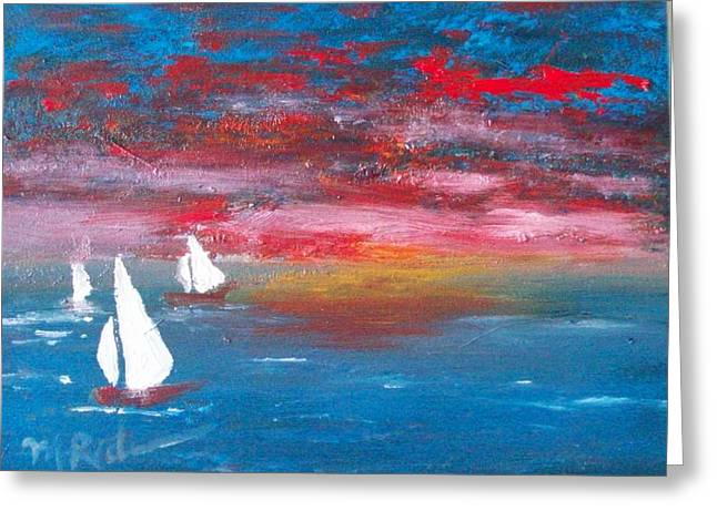 Sailor's Delight Greeting Card by Margie Ridenour