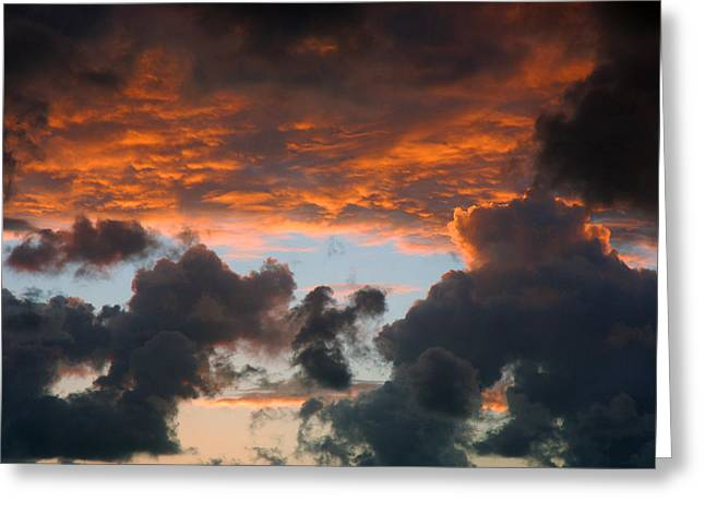 Sailors Take Warning Greeting Card by Allen Carroll