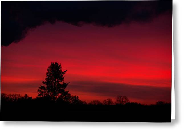 Sailors Take Warning Greeting Card