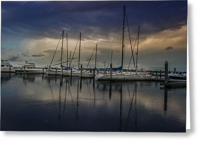 Sails Down Greeting Card by Richard Kook